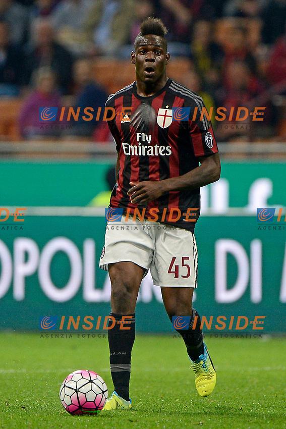 Mario Balotelli Milan<br /> Milano 21-04-2016 Stadio Giuseppe Meazza - Football Calcio Serie A Milan - Carpi. Foto Giuseppe Celeste / Insidefoto