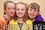 Enjoying the Kilcummin Ceomhaltas Ceoltoiri Eireann concert in Aras Phadraig, Killarney on Friday night were Niamh O'Donovan, Rachel Lynch and Katie O'Neill..