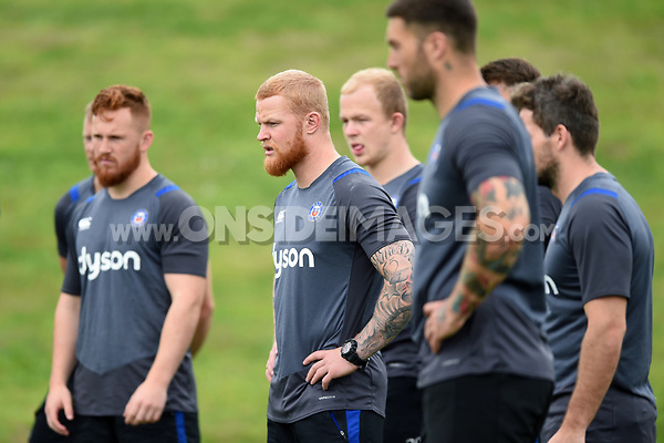 Tom Homer of Bath Rugby looks on. Bath Rugby pre-season S&C session on June 22, 2017 at Farleigh House in Bath, England. Photo by: Patrick Khachfe / Onside Images