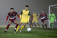 George Saunders of Hornchurch during Chelmsford City vs AFC Hornchurch, BBC Essex Senior Cup Football at Melbourne Park on 4th February 2019