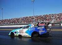 Jul 30, 2017; Sonoma, CA, USA; NHRA funny car driver Tim Wilkerson during the Sonoma Nationals at Sonoma Raceway. Mandatory Credit: Mark J. Rebilas-USA TODAY Sports