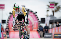 Australian TT Champion Luke Durbridge (AUS/Mitchelton-Scott) off the start ramp<br /> <br /> Stage 9 (ITT): Riccione to San Marino (34.7km)<br /> 102nd Giro d'Italia 2019<br /> <br /> ©kramon