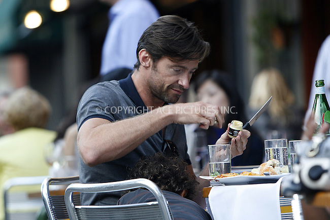WWW.ACEPIXS.COM . . . . .  ....July 10 2009, New York City....Actor Hugh Jackman had lunch with his family at Da Silvano in Soho on July 10 2009 in New York City....Please byline: NANCY RIVERA- ACE PICTURES.... *** ***..Ace Pictures, Inc:  ..tel: (212) 243 8787 or (646) 769 0430..e-mail: info@acepixs.com..web: http://www.acepixs.com