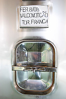 touriga franca tank door sign on tank quinta do cotto douro portugal