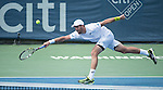July  22, 2016:  Steve Johnson (USA) defeated John Isner (USA) 7-6, 7-6 at the Citi Open being played at Rock Creek Park Tennis Center in Washington, DC.  ©Leslie Billman/Tennisclix/CSM