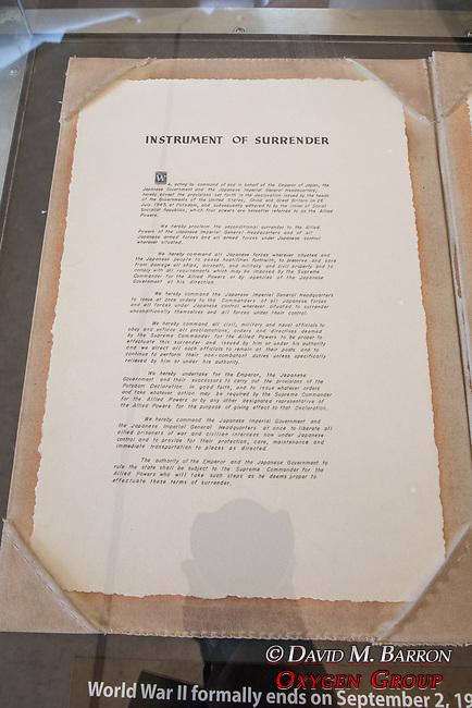 Armistice Signing Documents, The USS Missouri, Pearl Harbor