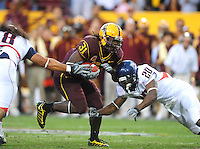 Nov. 28, 2009; Tempe, AZ, USA; Arizona State Sun Devils running back (31) Dimitri Nance against the Arizona Wildcats at Sun Devil Stadium. Arizona defeated Arizona State 20-17. Mandatory Credit: Mark J. Rebilas-