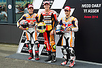 IVECO DAILY TT ASSEN 2014, TT Circuit Assen, Holland.<br /> Moto World Championship<br /> 28/06/2014<br /> Free&Qualifyng Practices<br /> marc marquez<br /> aleix espargaro<br /> dani pedrosa<br /> RME/PHOTOCALL3000