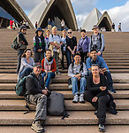 Group shot of some of the members on our Photowalk from Observatory Hill to to Mrs Macquaries Chair. On the steps of the Sydney Opera House, Sydney, NSW, Australia.