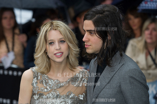 """Peaches Geldof and Thomas Cohen arriving for European premiere of """"The Dark Knight Rises"""" at the Odeon Leicester Square, London. 18/07/2012 Picture by: Simon Burchell / Featureflash"""