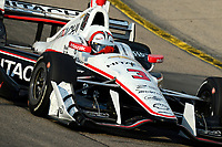 Helio Castroneves races to the final win of his full-time IndyCar career at Iowa Speedway.
