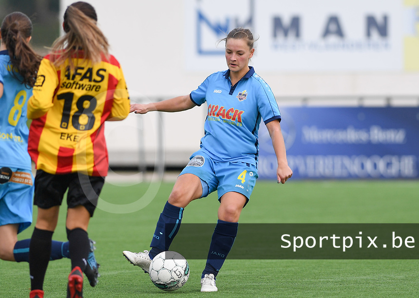 20191005  -  Diksmuide , BELGIUM : FWDM's Delphine Lins pictured during a footballgame between the womensoccer teams from Famkes Westhoek Diksmuide Merkem and KV Mechelen Ladies A , on the 5th matchday in the first division , 1e nationale , in Diksmuide - Belgium - saturday 5th october 2019 . PHOTO DAVID CATRY   Sportpix.be