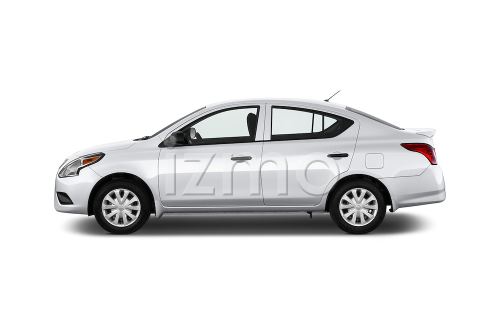 Car driver side profile view of a 2015 Nissan Versa 1.6 Sv Cvt 4 Door Sedan