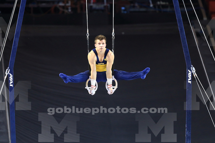 The University of Michigan men's gymnastics team compete at the 2015 NCAA Nationals in Norman, OK. April 9-11, 2015
