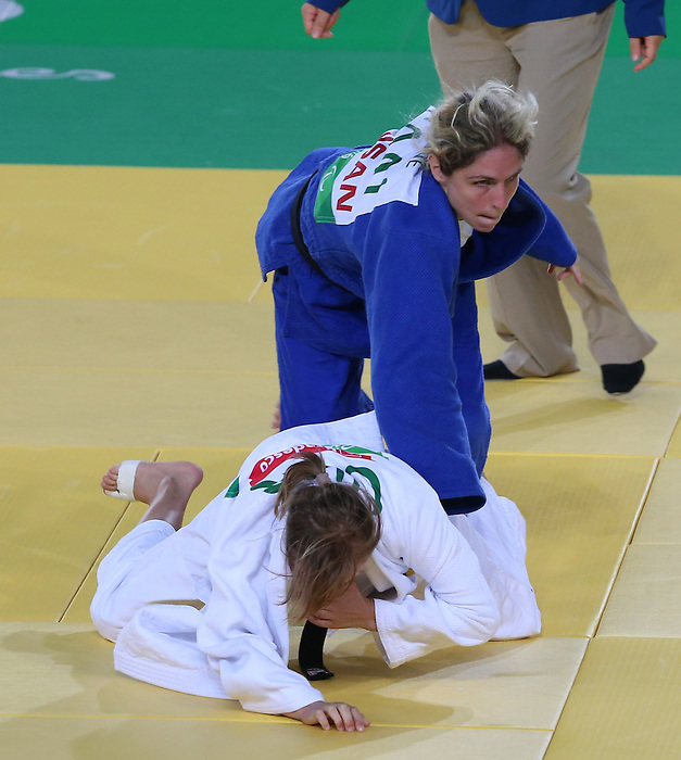 Rio de Janeiro-8/9/2016-Priscilla Gagne competes against Liudmyla Lohatska  from Ukraine in her 52kg Judo match at the 2016 Paralympic Games in Rio. Photo Scott Grant/Canadian Paralympic Committee
