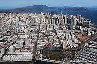 aerial photograph AT&T Giants baseball park south beach marina skyline San Francisco California