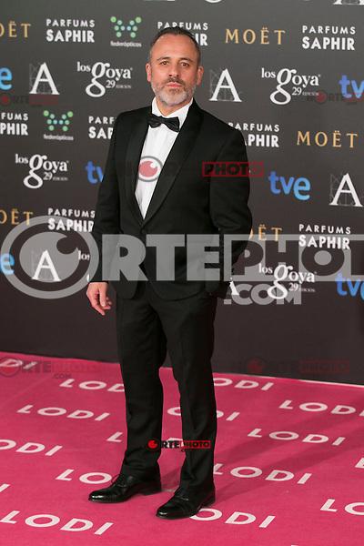 Javier Gutierrez attend the 2015 Goya Awards at Auditorium Hotel, Madrid,  Spain. February 07, 2015.(ALTERPHOTOS/)Carlos Dafonte) /NORTEphoto.com