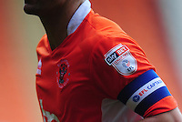 Blackpool's Danny Pugh wears the captains armband<br /> <br /> Photographer Kevin Barnes/CameraSport<br /> <br /> Football - The EFL Sky Bet League Two - Blackpool v Exeter City - Saturday 6th August 2016 - Bloomfield Road - Blackpool<br /> <br /> World Copyright &copy; 2016 CameraSport. All rights reserved. 43 Linden Ave. Countesthorpe. Leicester. England. LE8 5PG - Tel: +44 (0) 116 277 4147 - admin@camerasport.com - www.camerasport.com