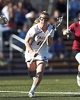 Boston College attacker Moira Barry (12) on the attack from the free position.