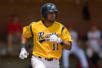 Richard Gonzalez #11 of the VCU Rams hustles down the first base line against the St. John's Red Storm at the Charlottesville Regional of the 2010 College World Series at Davenport Field on June 5, 2010, in Charlottesville, Virginia.  The Red Storm defeated the Rams 8-6.  Photo by Brian Westerholt / Four Seam Images