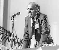 Russell Tuck, member, NEC, Labour Party, UK, addresses annual conference, September, 1982, 198209000179a<br /><br />Copyright Image from Victor Patterson, 54 Dorchester Park, <br />Belfast, UK, BT9 6RJ<br /><br />t1: +44 28 9066 1296 (from Rep of Ireland 048 9066 1296)<br />t2: +44 28 9002 2446 (from Rep of Ireland 048 9002 2446)<br />m: +44 7802 353836<br /><br />victorpatterson@me.com<br />www.victorpatterson.com<br /><br />Please see my Terms and Conditions of Use at VICTORPATTERSON.COM. It is IMPORTANT that you familiarise yourself with them.<br /><br />Images used on the Internet must be visibly watermarked i.e. &copy;VICTORPATTERSON.COM within the body of the image and copyright metadata must not be deleted. Images used on the Internet have a size restriction of 4kbs and are chargeable at the then current NUJ rates.<br /><br />This image is only available for the use of the download recipient i.e. television station, newspaper, magazine, book publisher, etc, and must not be passed on to any third party. It is also downloaded on condition that each and every usage is notified within 7 days to victorpatterson@me.com<br /><br />The right of Victor Patterson to be identified as the author is asserted in accordance with The Copyright Designs And Patents Act (1988).