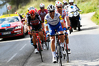 14th March 2020, Paris to Nice cycling tour, final day, stage 7;  EDET Nicolas (FRA) of COFIDIS,  DE GENDT Thomas (BEL) of LOTTO SOUDAL and ALAPHILIPPE Julian (FRA) of DECEUNINCK - QUICK - STEP  during stage 7 of the 78th edition of the Paris - Nice cycling race, a stage of 166,5km with start in Nice and finish in Valdeblore La Colmiane on March 14, 2020 in Valdeblore La Colmiane, France