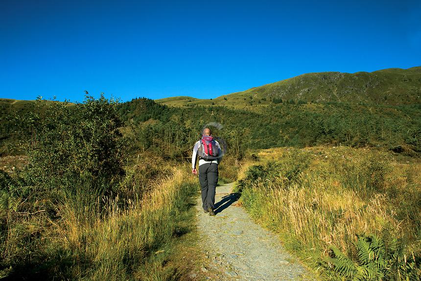 Ascending towards Ben Ledi, Loch Lomond and the Trossachs National Park, Stirlingshire