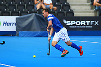 Timothy Atkins of Scotland in action during the Hockey World League 9th and 10th placing match between Korea and Scotland at the Olympic Park, London, England on 22 June 2017. Photo by Steve McCarthy.