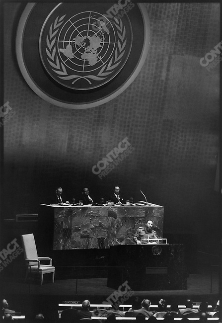 Fidel Castro, President of Cuba, at the UN General Assembly. New York, October 1979&amp;#xD;<br />