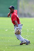 March 18, 2010:  Second Baseman Jordan Sallis of the Boston Red Sox organization during Spring Training at Ft.  Myers Training Complex in Fort Myers, FL.  Photo By Mike Janes/Four Seam Images