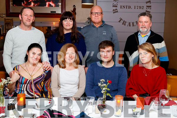 Enjoying the Ladden Family reunion, Kilderry, Milltown, at Benner's Hotel, Tralee, on Saturday night last were front l-r: Fiona Loughlin, Paula Ladden, Dylan Morris and Sarah Morris. Back l-r: Jim Loughlin, Caitriona Ladden, Francis Ladden and Denis O'Shea.