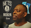 Tony Brown, interim head coach of the Brooklyn Nets, speaks to the media after a team shootaround at Barclays Center on Monday, Jan. 11, 2016.