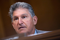United States Senator Joe Manchin III (Democrat of West Virginia) speaks during a business meeting of the United States Senate Committee on Energy and Natural Resources on Capitol Hill in Washington D.C., U.S., on Tuesday, June 9, 2020, as they consider the nomination of Mark Menezes to be the Deputy Secretary of Energy.  Credit: Stefani Reynolds / CNP/AdMedia