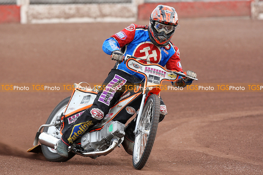 Chris Mills rides for Lakeside Hammers during pre-season speedway practice at Arena Essex Raceway - 10/03/09 - MANDATORY CREDIT: Gavin Ellis/TGSPHOTO - Self billing applies where appropriate - 0845 094 6026 - contact@tgsphoto.co.uk - NO UNPAID USE.