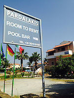 Pictured: Pardalakis Hotel in Gerani, near Chania, Crete, Greece, where missing 73 year old Robert Arthur Jones was staying before he disappeared. Tuesday 08 July 2014<br />