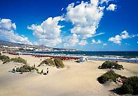 Spanien, Kanarische Inseln, Gran Canaria, Playa del Ingles, Strand | Spain, Canary Island, Gran Canaria, Playa del Ingles, beach