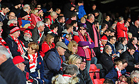 Lincoln City fans enjoy the pre-match atmosphere<br /> <br /> Photographer Andrew Vaughan/CameraSport<br /> <br /> The EFL Sky Bet League Two - Crewe Alexandra v Lincoln City - Saturday 11th November 2017 - Alexandra Stadium - Crewe<br /> <br /> World Copyright &copy; 2017 CameraSport. All rights reserved. 43 Linden Ave. Countesthorpe. Leicester. England. LE8 5PG - Tel: +44 (0) 116 277 4147 - admin@camerasport.com - www.camerasport.com