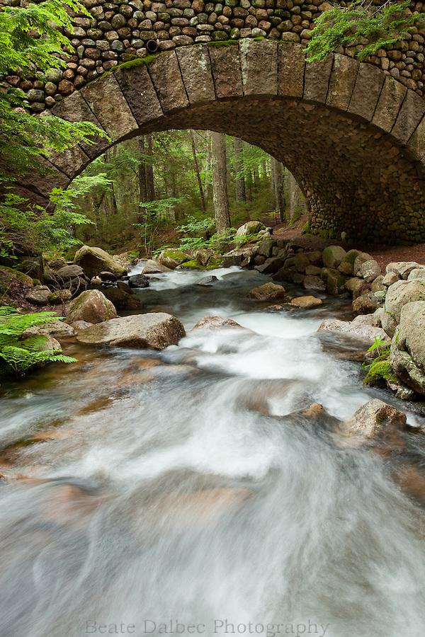 Cobblestone bridge in Acadia National Park, Maine