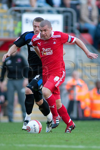 15.10.2011, London, England. Stephen Dawson Orient's midfielder in action during the NPower league one football match between Leyton Orient and Bury played at the Matchroom Stadium, Brisbane Road, London. Mandatory credit: ActionPlus