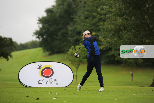 Lisa Patton (Strabane) during the Ulster Mixed Foursomes Final, Shandon Park Golf Club, Belfast. 19/08/2016<br /> <br /> Picture Jenny Matthews / Golffile.ie<br /> <br /> All photo usage must carry mandatory copyright credit (© Golffile | Jenny Matthews)