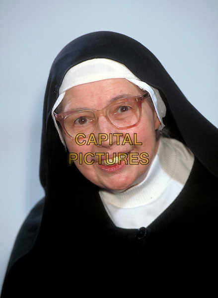 SISTER WENDY .Ref: 2366.Pre 1997.portrait headshot studio nun glasses  habit .CAP/HT.©Hugh Thompson/Capital Pictures.