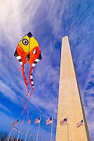 Smithsonian Kite Festival, Washington Monument, Washington D.C., U.S.A.