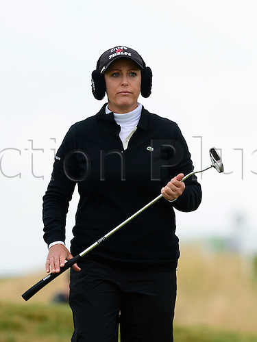 31.07.2015. Turnberry, Scotland. Ricoh Womens British Open Golf Round 2. Christie Kerr on the 18th , on a cool day on the course.