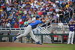 OMAHA, NE - JUNE 26: Brady Singer (51) of the University of Florida pitches against Louisiana State University during the Division I Men's Baseball Championship held at TD Ameritrade Park on June 26, 2017 in Omaha, Nebraska. The University of Florida defeated Louisiana State University 4-3 in game one of the best of three series.(Photo by Justin Tafoya/NCAA Photos via Getty Images)