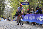 Marco Marcato (ITA) UAE Team Emirates on the the first ascent of the Kemmelberg during the 2019 Gent-Wevelgem in Flanders Fields running 252km from Deinze to Wevelgem, Belgium. 31st March 2019.<br /> Picture: Eoin Clarke | Cyclefile<br /> <br /> All photos usage must carry mandatory copyright credit (© Cyclefile | Eoin Clarke)
