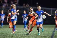 Allston, MA - Wednesday Aug. 31, 2016: Kristie Mewis, Lydia Williams, Natasha Dowie during a regular season National Women's Soccer League (NWSL) match between the Boston Breakers and the Houston Dash at Jordan Field.