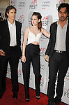 LOS ANGELES, CA - NOVEMBER 03: Walter Salles, Kristen Stewart and Charles Gilbert arrive at the 2012 AFI FEST - 'On The Road' Gala Screening at Grauman's Chinese Theatre on November 3, 2012 in Hollywood,