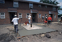 1993 June 21..Assisted Housing..Diggs Town (6-6)..Interim.Exterior .Rear of 1502 Vernon.laying cement slab...NEG#.NRHA#..HOUSING: DiggsTn1 19:19