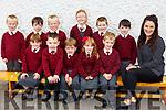 Ms Egan&rsquo;s junior infants class in Knockaderry NS Farranfore.<br /> Seated l-r, Kate McGough, Kyrstin Dillane, Fionn Henderson, Sophie Deniel, Aodhan Scully and Stephanie Egan (Teacher).<br /> Back l-r, Luke Barry, Diarmuid Keane, Aidan Barry, Alice Gleeson, Gavin Sheehan and Ruairi O&rsquo;Leary.