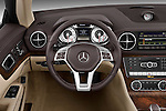Steering wheel view of a 2013 Mercedes SL Class